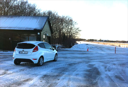 You Drive On An Ice Rink To Pass Your Driver's Licence Test.