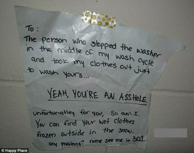Anonymous Notes In The Laundry Room