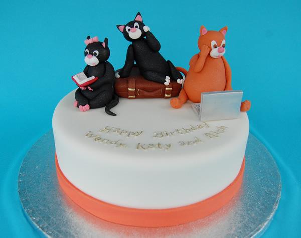 Astonishing Cat Cakes Janet Carr Funny Birthday Cards Online Elaedamsfinfo