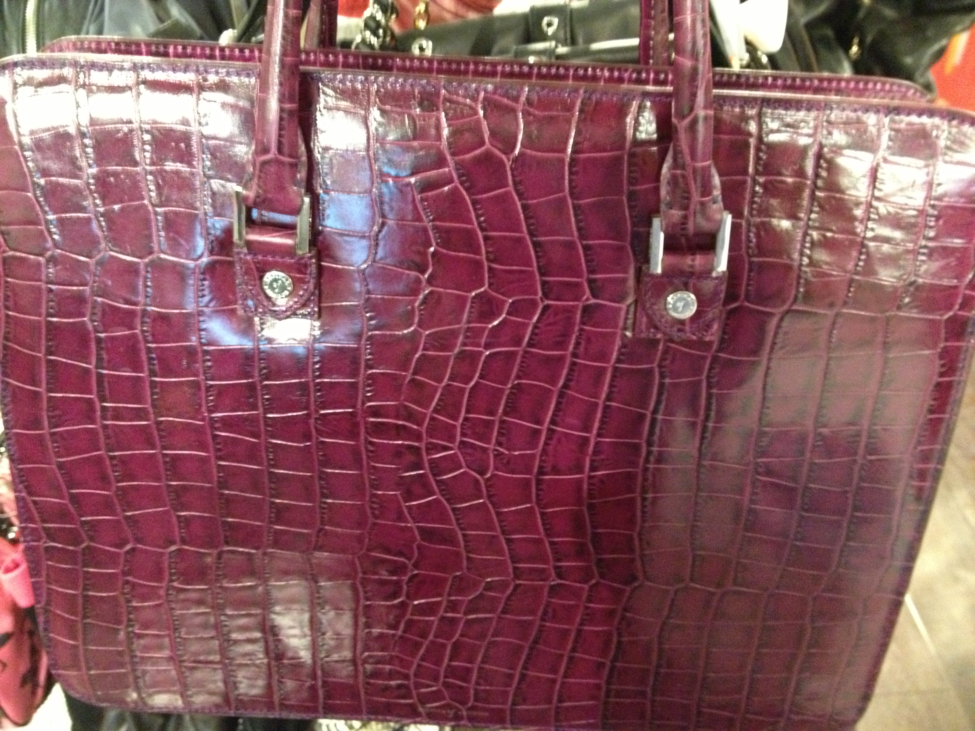 be56ed99e04e Aspinal Purple Croc bag. RRP was £600 and this was selling for £160