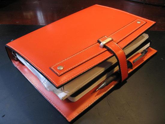 image regarding Day Runner Binder titled Attractive Orange Repurposed Working day Runner Janet Carr @