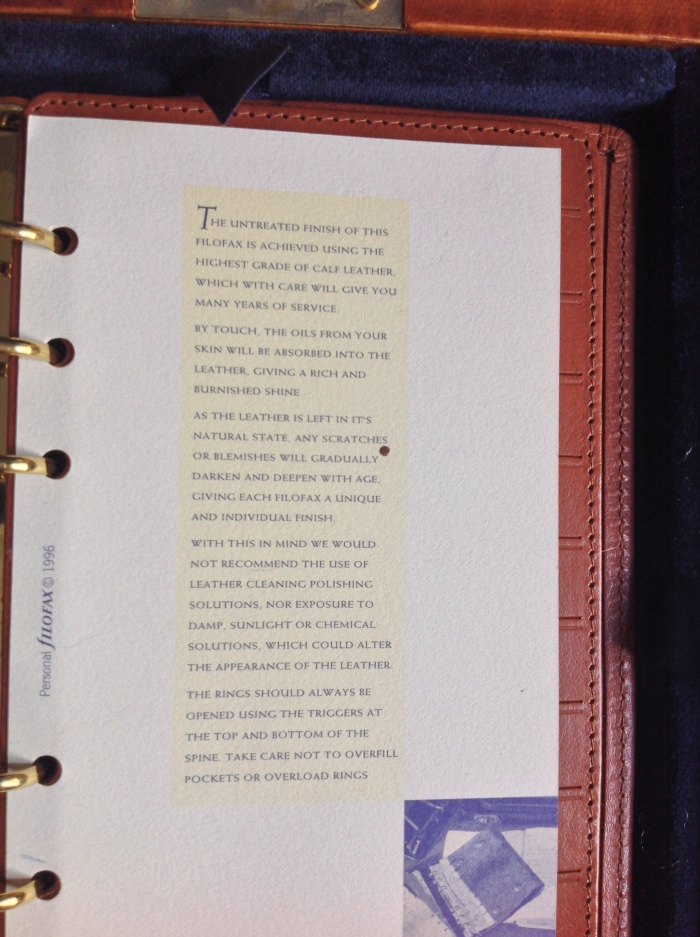 Description of the leather of the binder