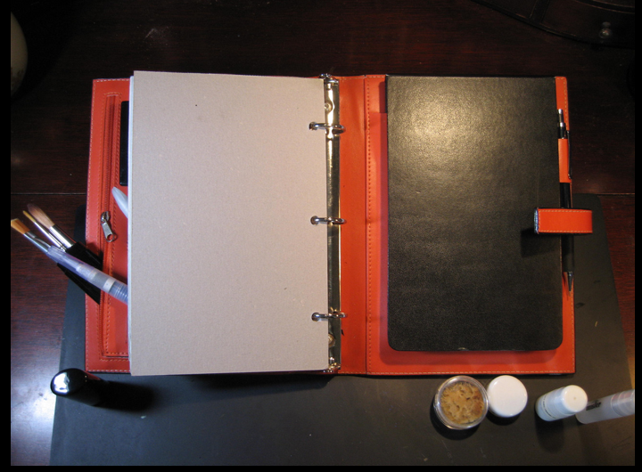 photo about Day Runner Binder identify Appealing Orange Repurposed Working day Runner Janet Carr @