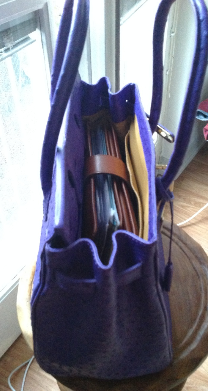 Purple Vanilla Paris bag with A5 Gillio Mia Cara
