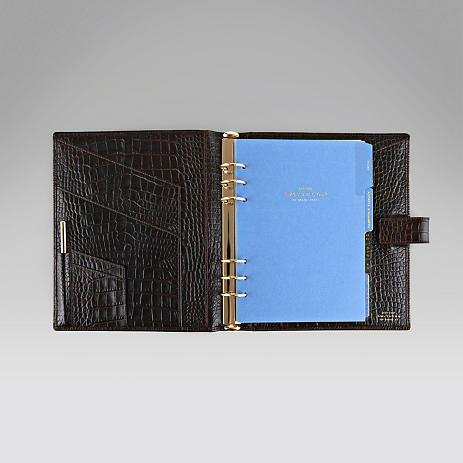 Smythson - Brown Duke's organiser, Reduced from £370 to £185