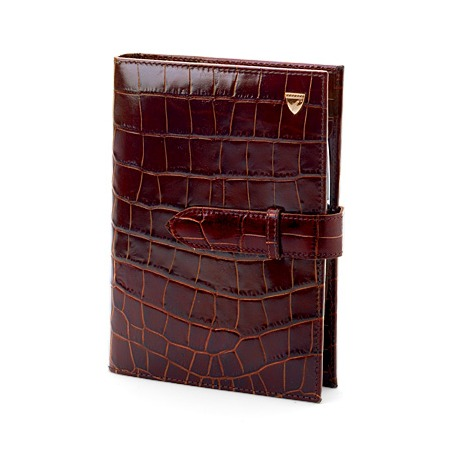 Aspinal - A5 organiser in Brown Croc. Reduced from £165 to £49.50