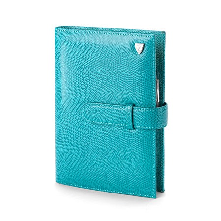 Aspinal - A5 Organiser in Turquoise Lizard, reduced from £165 to £49.50