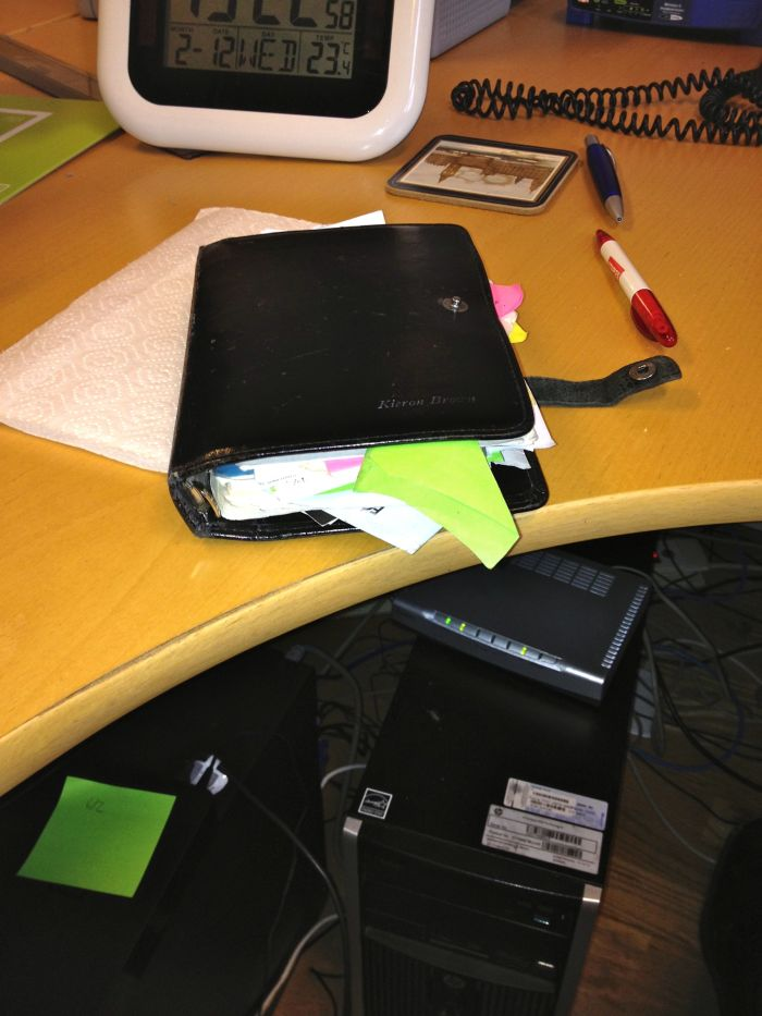 My boss's 20-year old Filofax. It used to be fatter but is on a diet