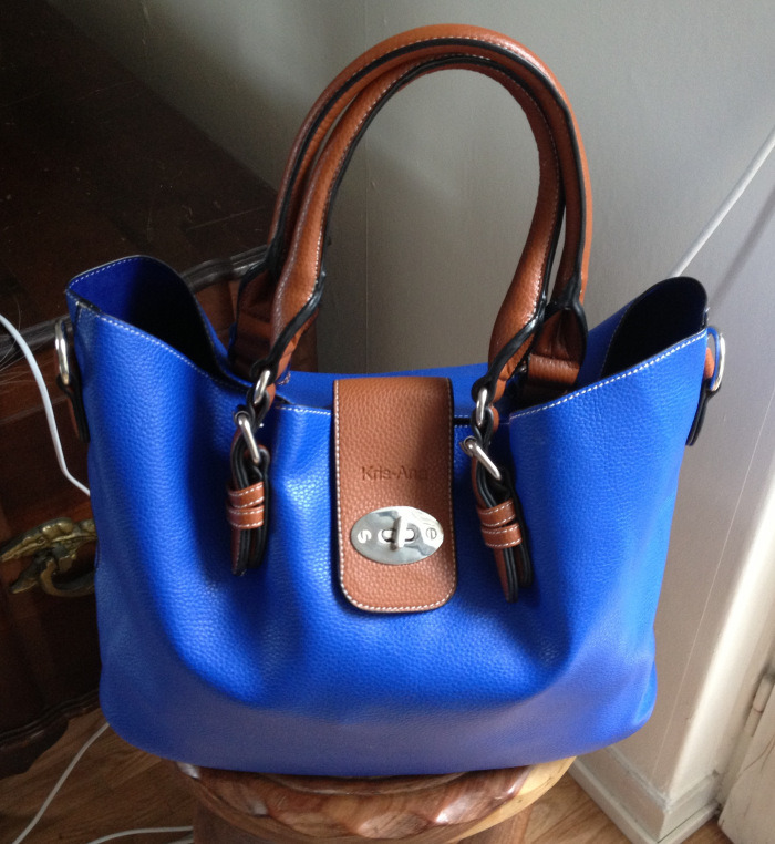 cobalt blue kris ana tote with blue calipso filofax i don t own this ...