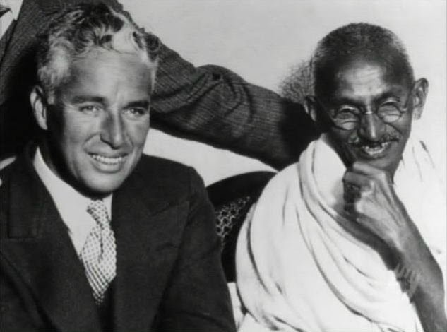 Charlie Chaplin and Ghandi