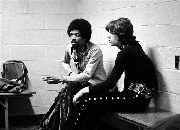 Mick Jagger and Jimi Hendrix