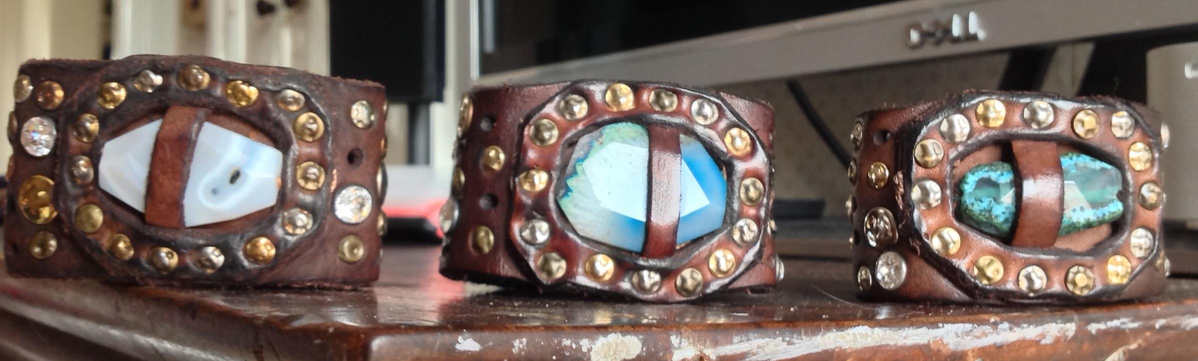 5832157de27a ... 5-1photo  2GAETANO-Campomaggi-bracelet-with-white-rock-1GAETANO-Campomaggi-Bracelet-VLE-P8GAETANO-Wide-Studded- Leather-Bracelet-Blue-4-320