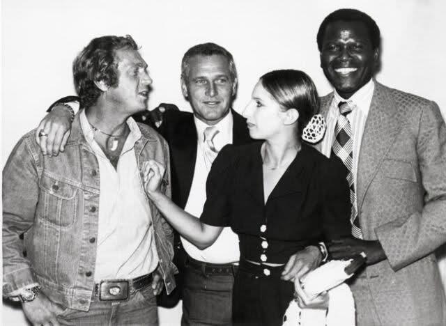 Steve McQueen, Paul Newman, Barbra Streisand and Sidney Poitier