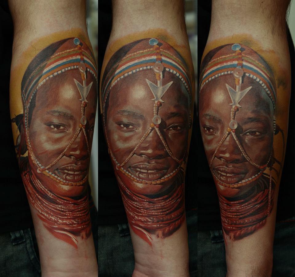 Dark Skin Color Tattoo: Tattoo Artist Dmitriy Samohin