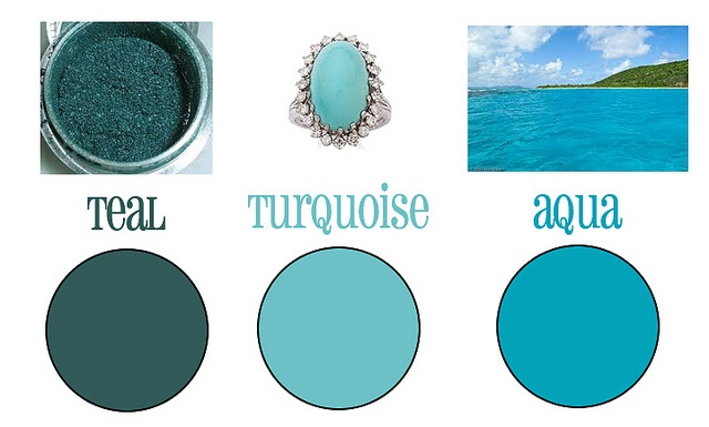 Differences Between Turquoise Teal And Aqua Janet Carr