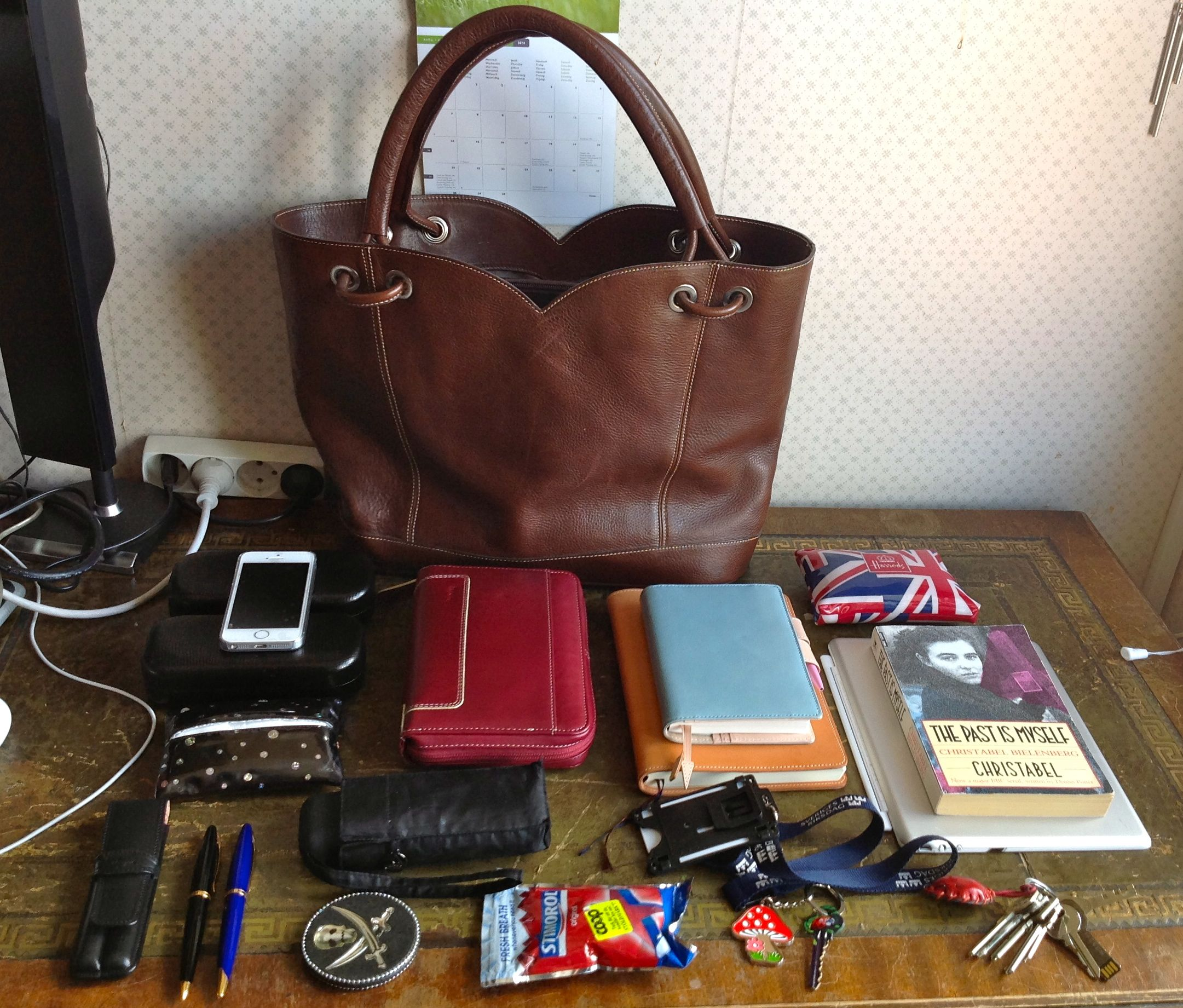 What's in my bag today: Brown Furla Tote – Janet Carr @