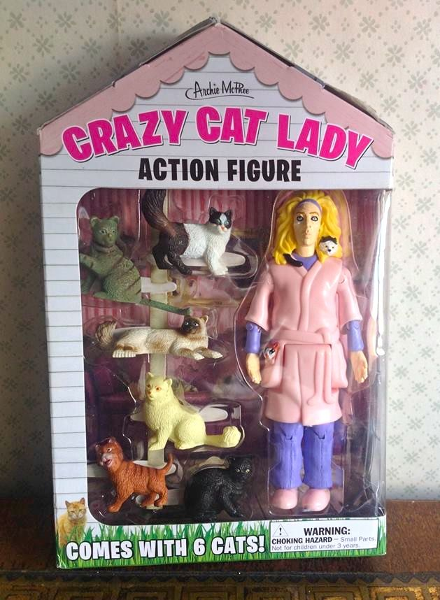 Old Cat Lady Toy