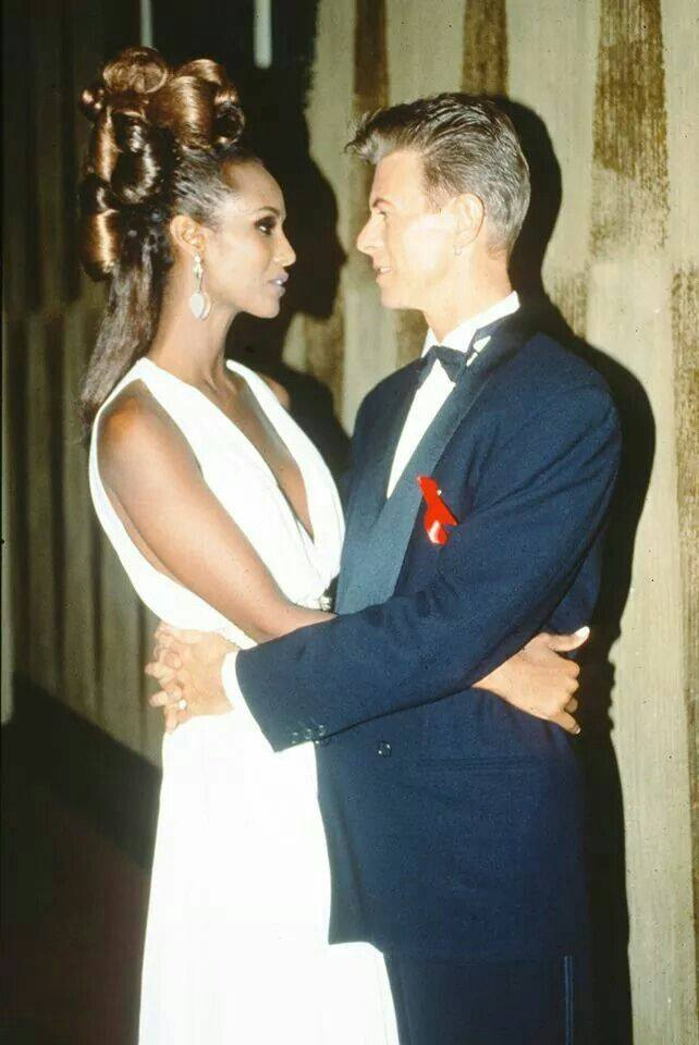 Pencil Paper Icon David Bowie and Iman �...
