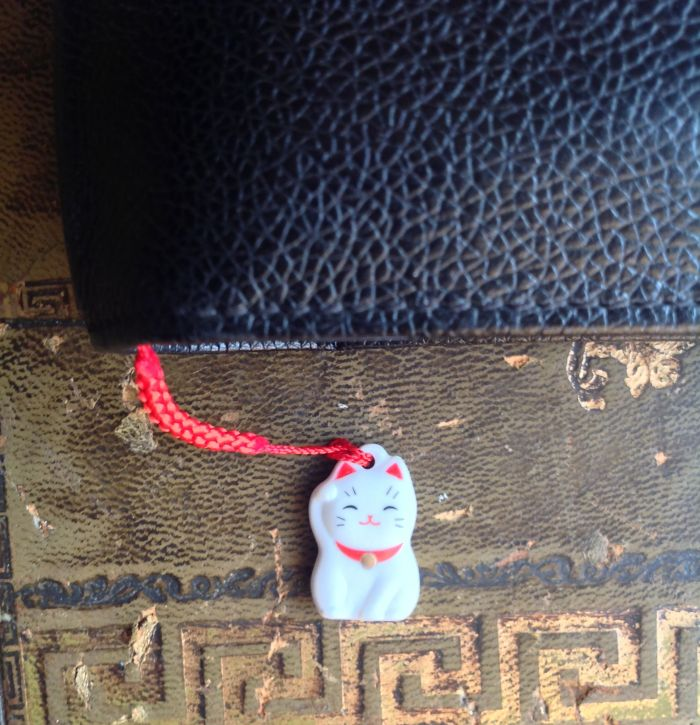 Little cat charm. It had a gold bell on it but I don't like the noise they make so I removed it.