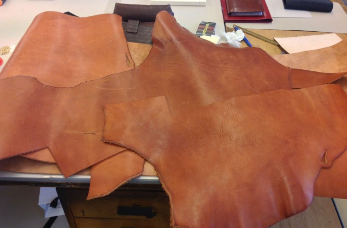 The thick saddle leather I wanted for my book