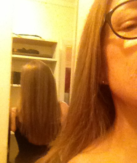 Bad photo taken about 8 months ago after I had straightened it.