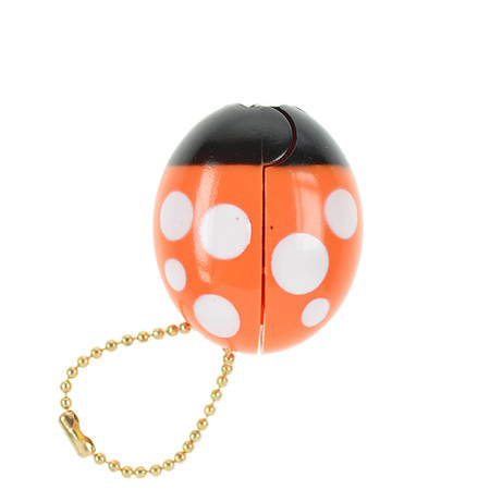 OH43601-OR~OHTO-Ladybird-Keychain-Scissors-Orange_P2