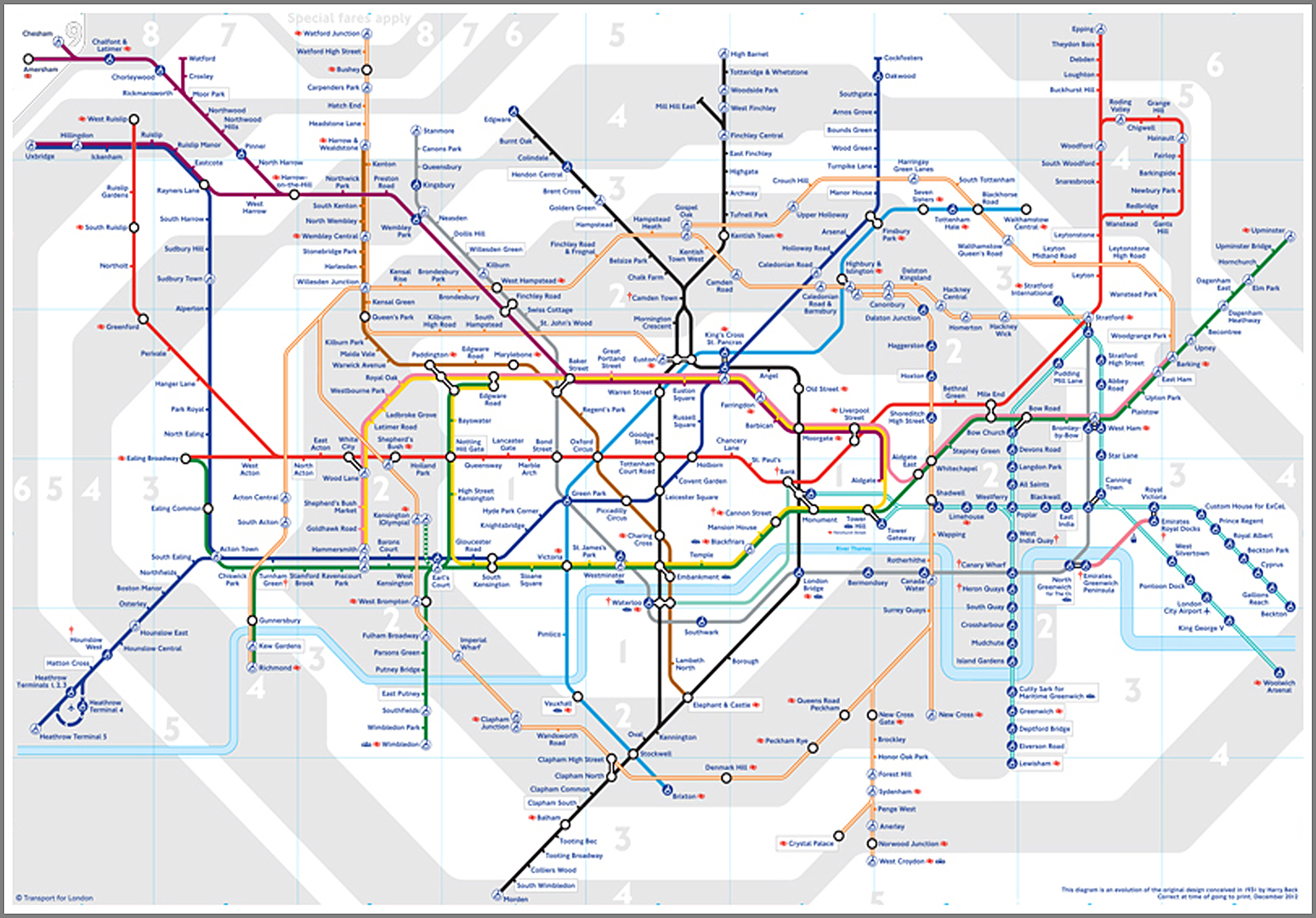 London Underground Map from Grace Scurr Filofax Janet Carr – London Underground System Map