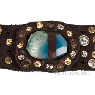 GAETANO-Wide-Studded-Leather-Bracelet-Blue-4-320