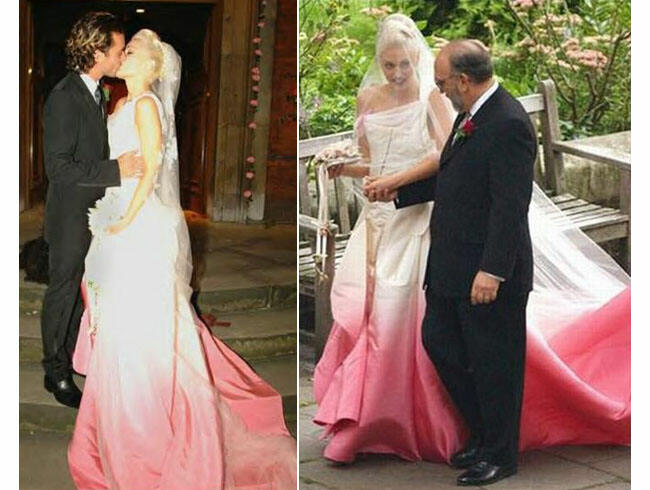 Gwen Stefani ombre wedding gown