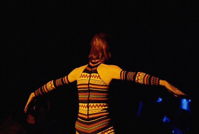 David Bowie Performing as Ziggy Stardust