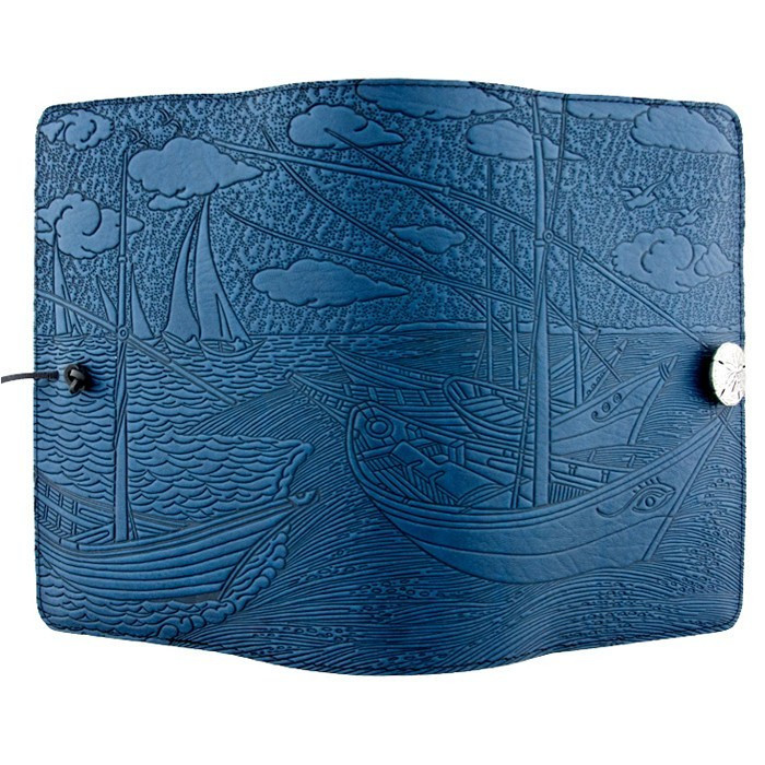 journals-oberon-refillable-leather-journal-van-gogh-boats-sky-blue-2