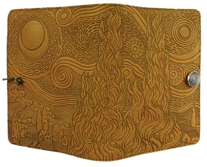 journals-oberon-refillable-leather-journal-van-gogh-s-sky-marigold-2