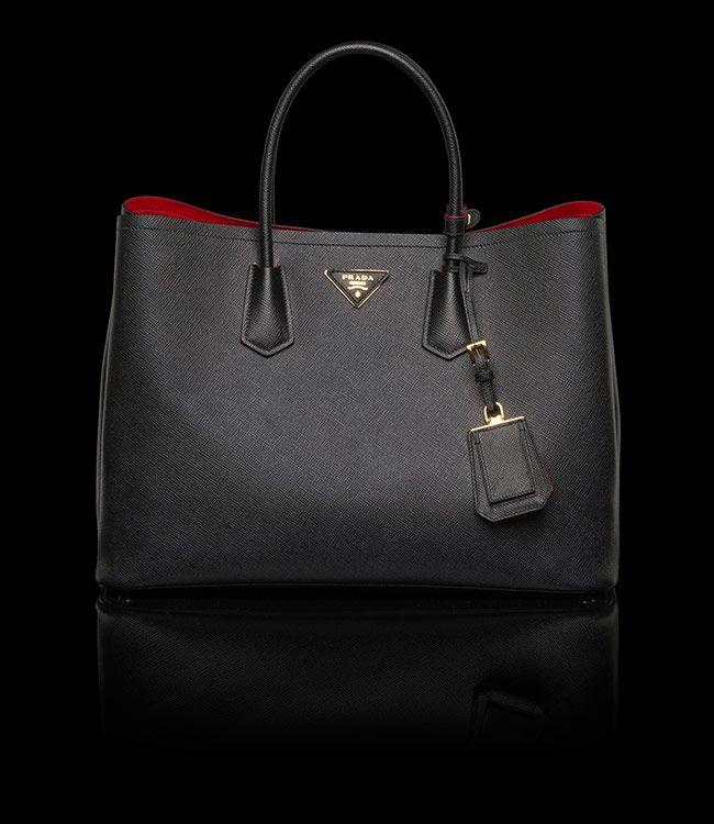 Prada Double Bag Black Red