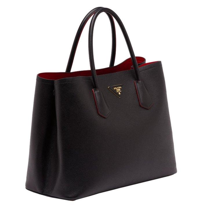 Prada-Saffiano-Cuir-Double-Bag-Black
