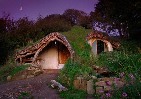 Low impact woodland house (Wales, UK)