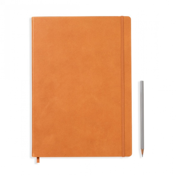 notebook-master-a4-hardcover-233-numbered-pages-dotted-leather-cognac