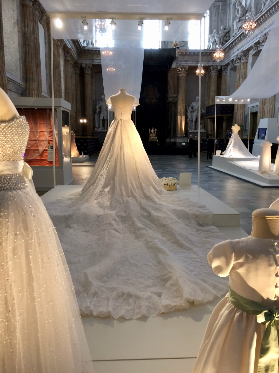 Swedish royal wedding dress exhibition