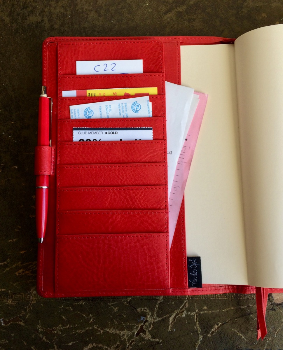 Van Der Spek Hobonichi Cousin (A5) Codex cover in Red Janet Leather