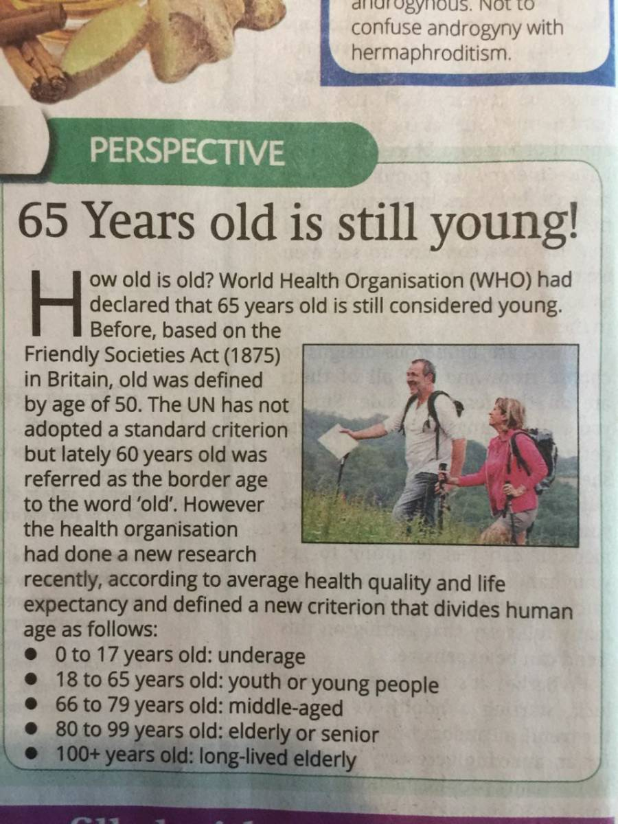 What age is 'elderly'?