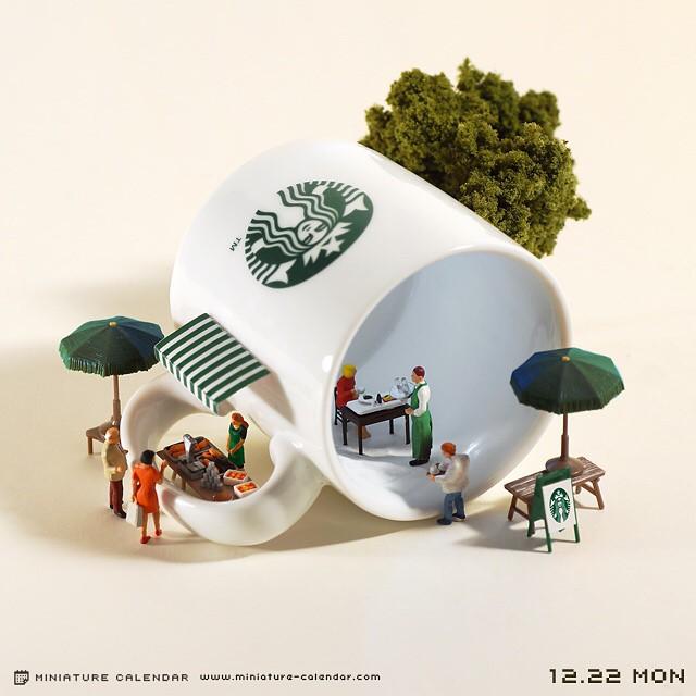 Miniature Calendar.Tatsuya Tanaka S Daily Miniature Calendar Janet Carr