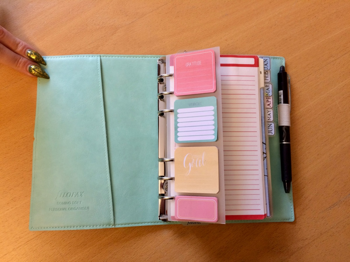 Filofax spotted in the wild: Soft Domino in Duck Egg Mint, personal size