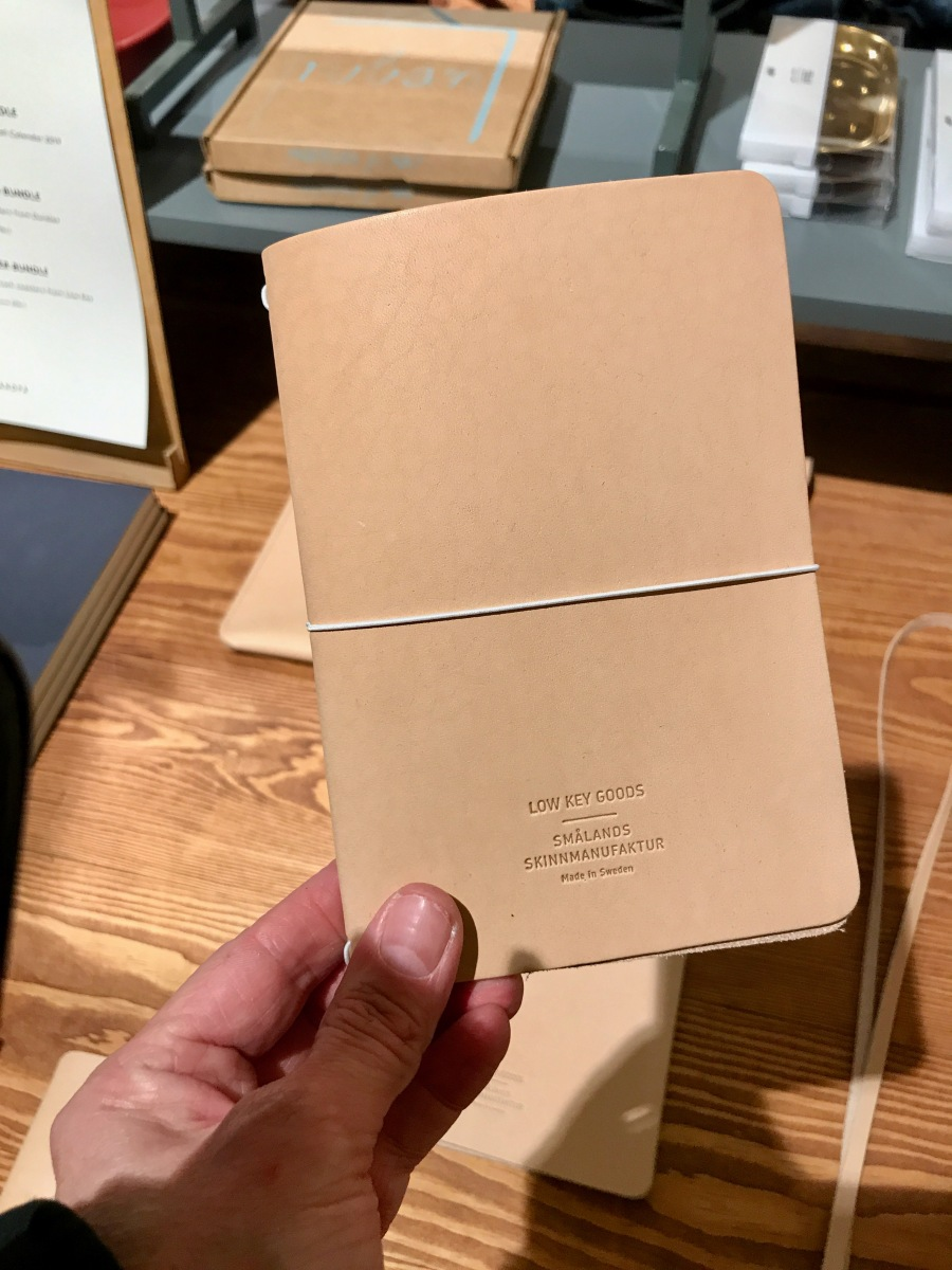 Low Key Goods traveler's notebooks in undyed leather