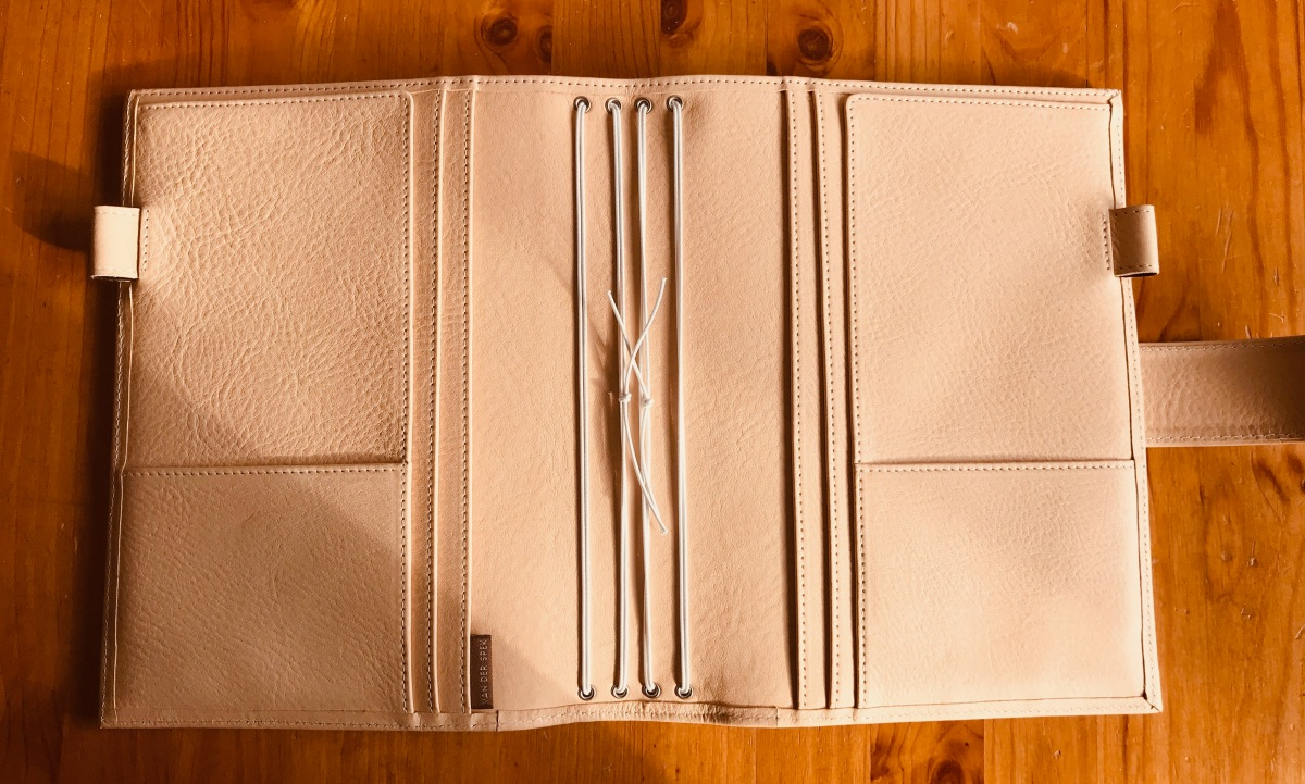 A5 Van Der Spek Nomad TN cover in undyed Janet Leather